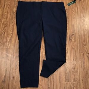 NWT Ralph Lauren Navy Elastic Pull on Dress Pant